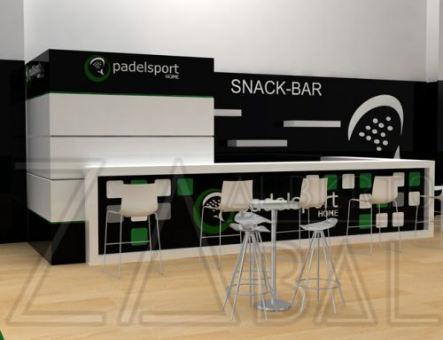 Diseño Barra de Bar Club de Padel