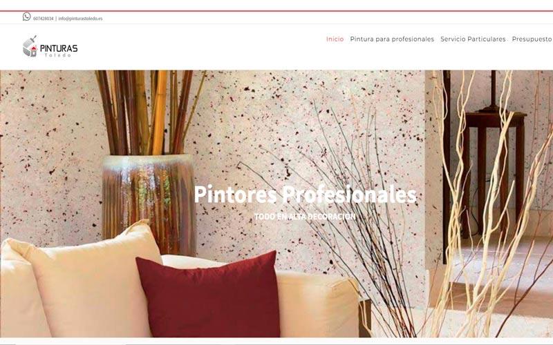 Diseño web Pinturas Toledo